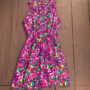 Lilly Pulitzer  floral midi dress size Medium